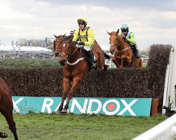 Lostintranslation and Robbie Power win at Aintree in April 2019 (Grossick Racing Photography)