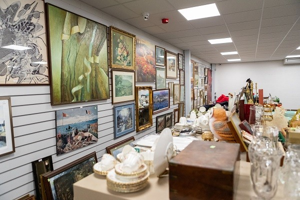 1818 Auctioneers new 280 square metre saleroom, set up for its first sale. Ian Wood photography