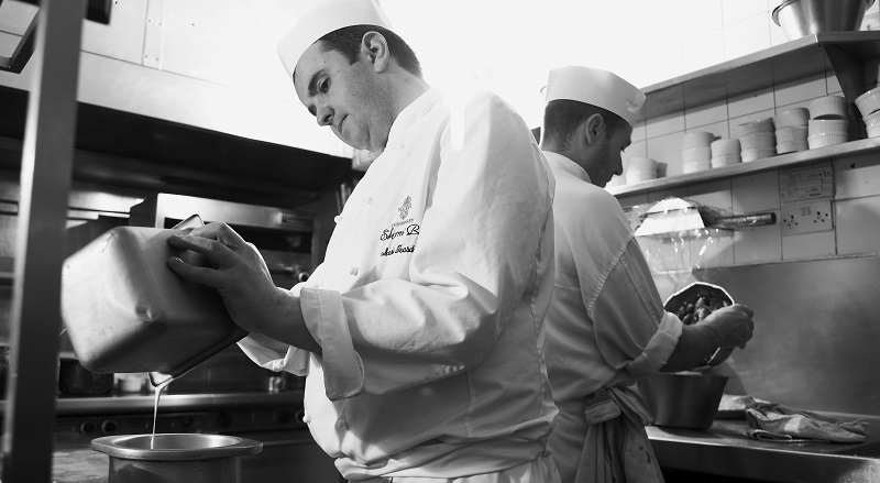 Mike Teasdale, Head Chef at Sharrow Bay