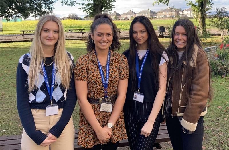 L-R: Erin Ledward, Robyn Walton, Clara Davies and Ailiysha Bell