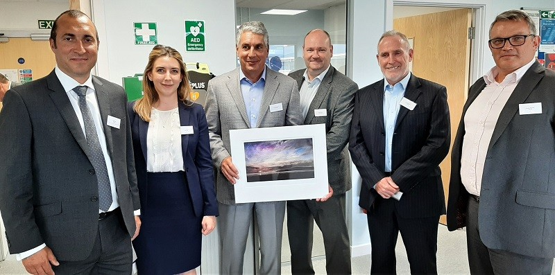 Jacobs team left to right: Ray Riley, Caitlin Johnson, Jacobs Chair and CEO Steve Demetriou, Pete Lutwyche, Peter McRoberts and George MacIver.