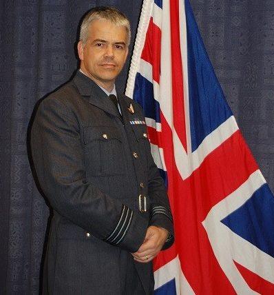 RAF Spadeadam Station Commander Wing Commander Matt Lawrence.  Photo: RAF Benevolent Fund
