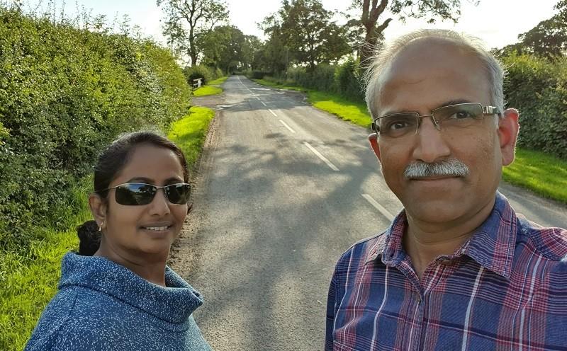 Dr Jeyaram Srinivasan and his wife Krishna