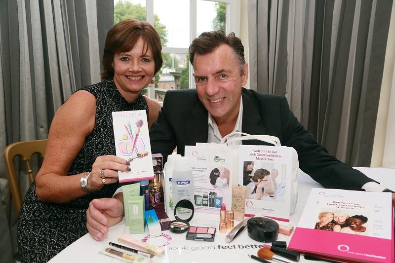 Duncan Bannatyne with Sarahjane Robertson CEO of Look Good Feel Better UK