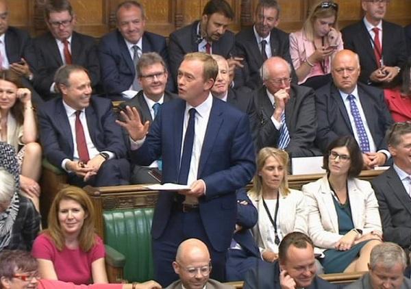 Tim Farron MP in Parliament