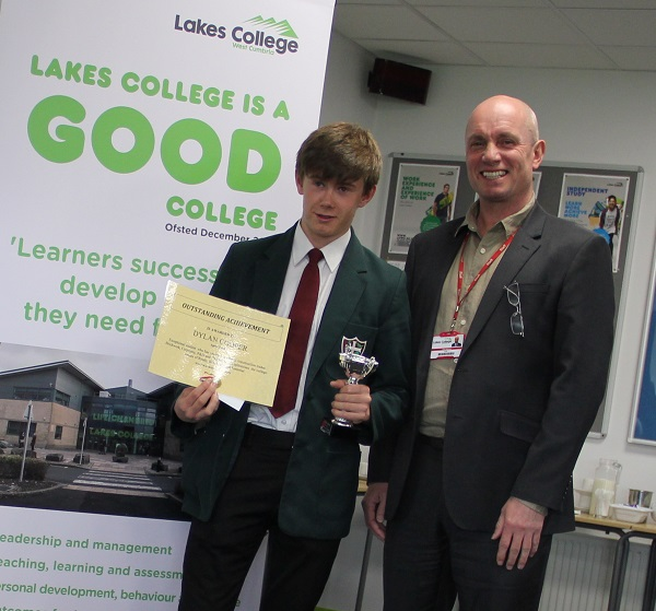 Dylan Cooper (Lakes College outstanding achievement award for Construction)