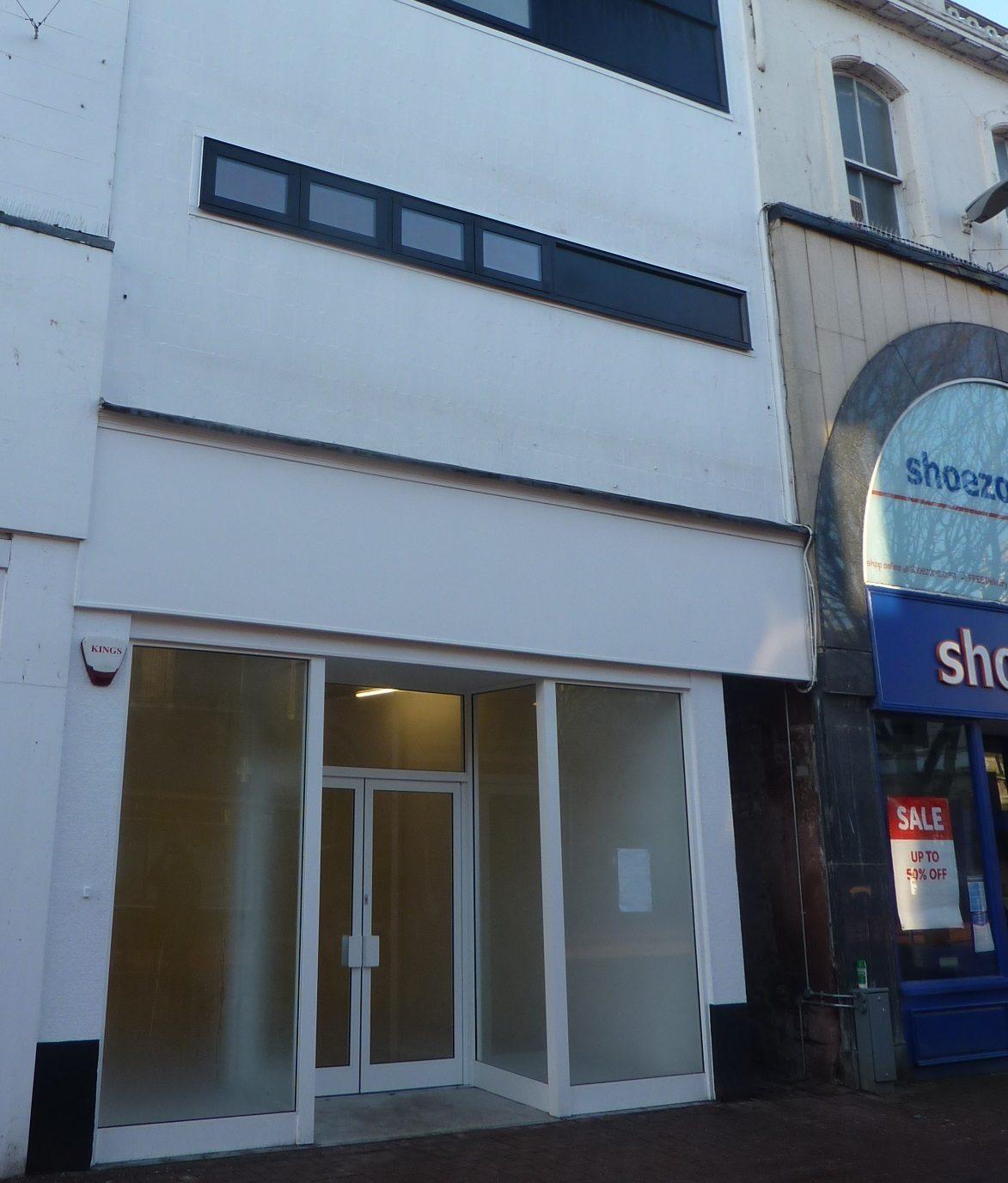Former H.Samuel site on English Street, Carlisle