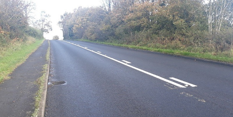 The A65 after surface dressing