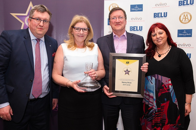 Andrew Oxley, AA Hotel Services, Susan and Peter Robinson, Nanny Brow and Giovanna Grossi, AA Hotel Services
