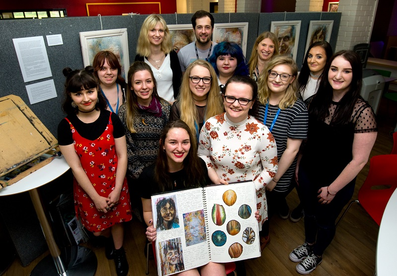 The foundation art and design students at Barrow Sixth Form held an exhibition of their final project work.