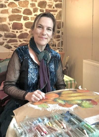 Alex Jakob-Whitworth in her studio