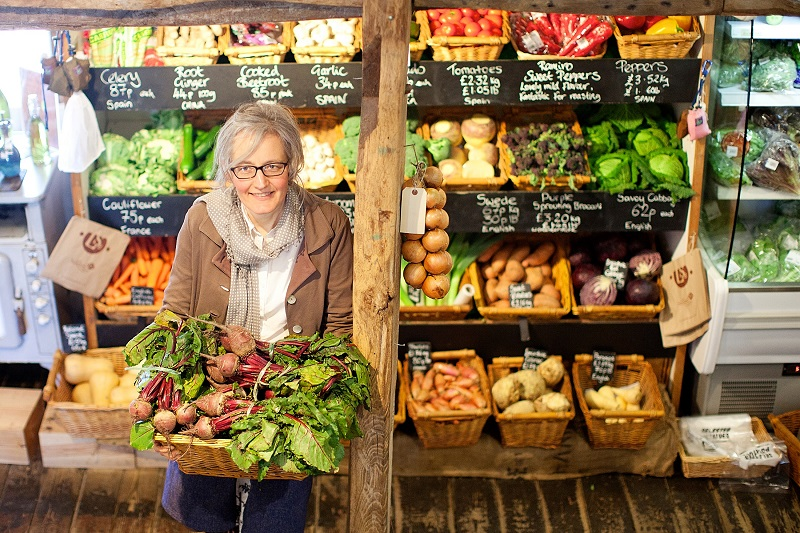 Alison Park in the farm shop