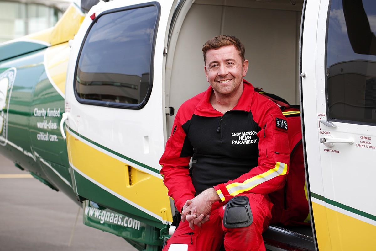 Great North Air Ambulance Service's first day at Progress House, Urlay Nook. Photograph: Stuart Boulton