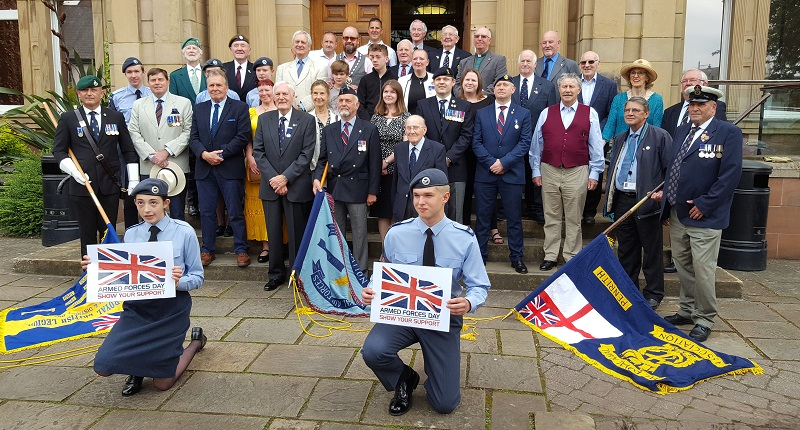Members of the Royal British Legion, RAF Air Cadets and members of the ex-service community joined Eden District Council Councillors in a ceremony to celebrate Armed Forces Day.