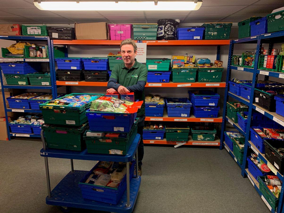 Barrow Foodbank's assistant manager Matt Burden