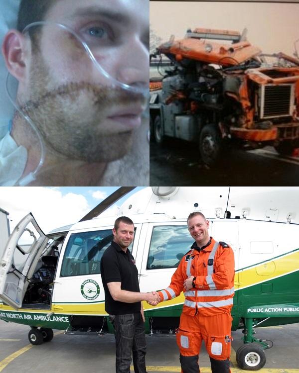 Ben Finlinson in hospital, the wreckage, Ben thanks Andy Dalton