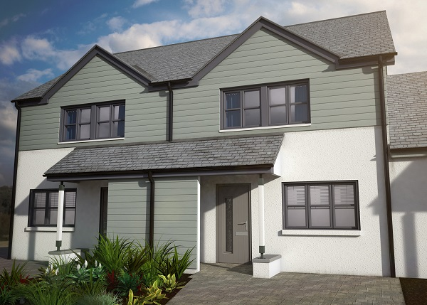 How the two bedroomed semi-detached homes will look on completion.