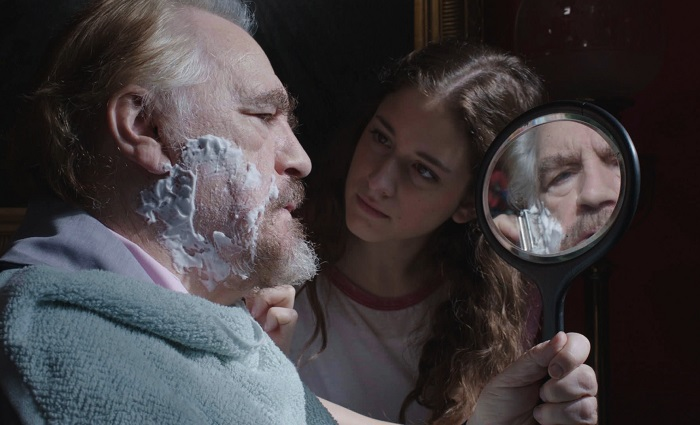 Brian Cox and Coco Konig in The Carer. Photo courtesy Cinefile/Hopscotch Films
