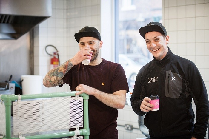 Luke Jackson (left) and Bruce Brown (right), Directors of Bruce and Luke's Coffee