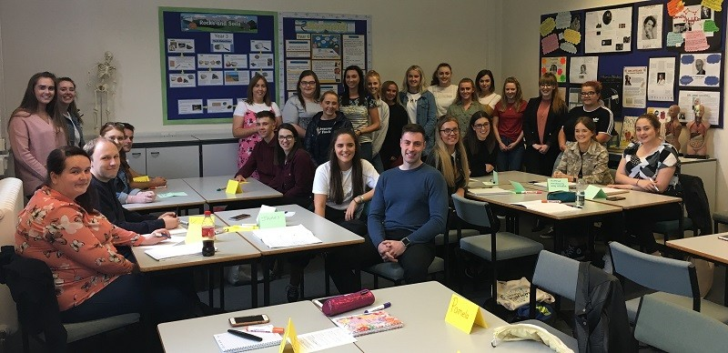 PGCE primary school University of Cumbria students, pictured at the university's Fusehill Street campus, Carlisle, on registration day
