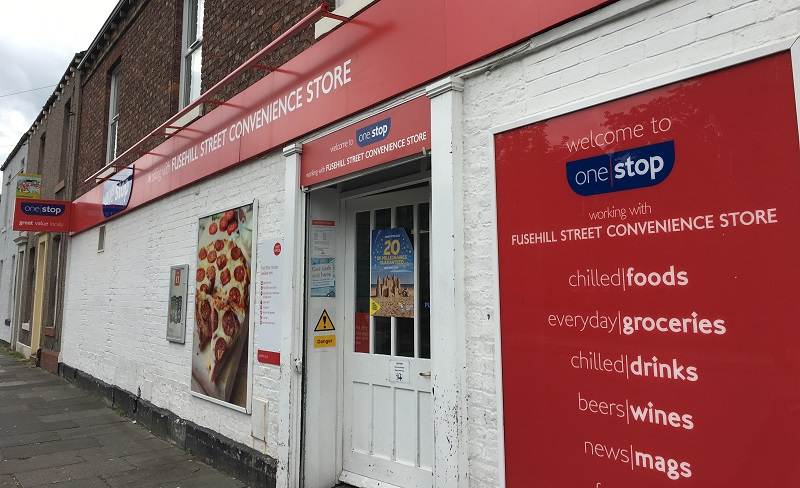 Carlisle's One Stop store at Fusehill Street