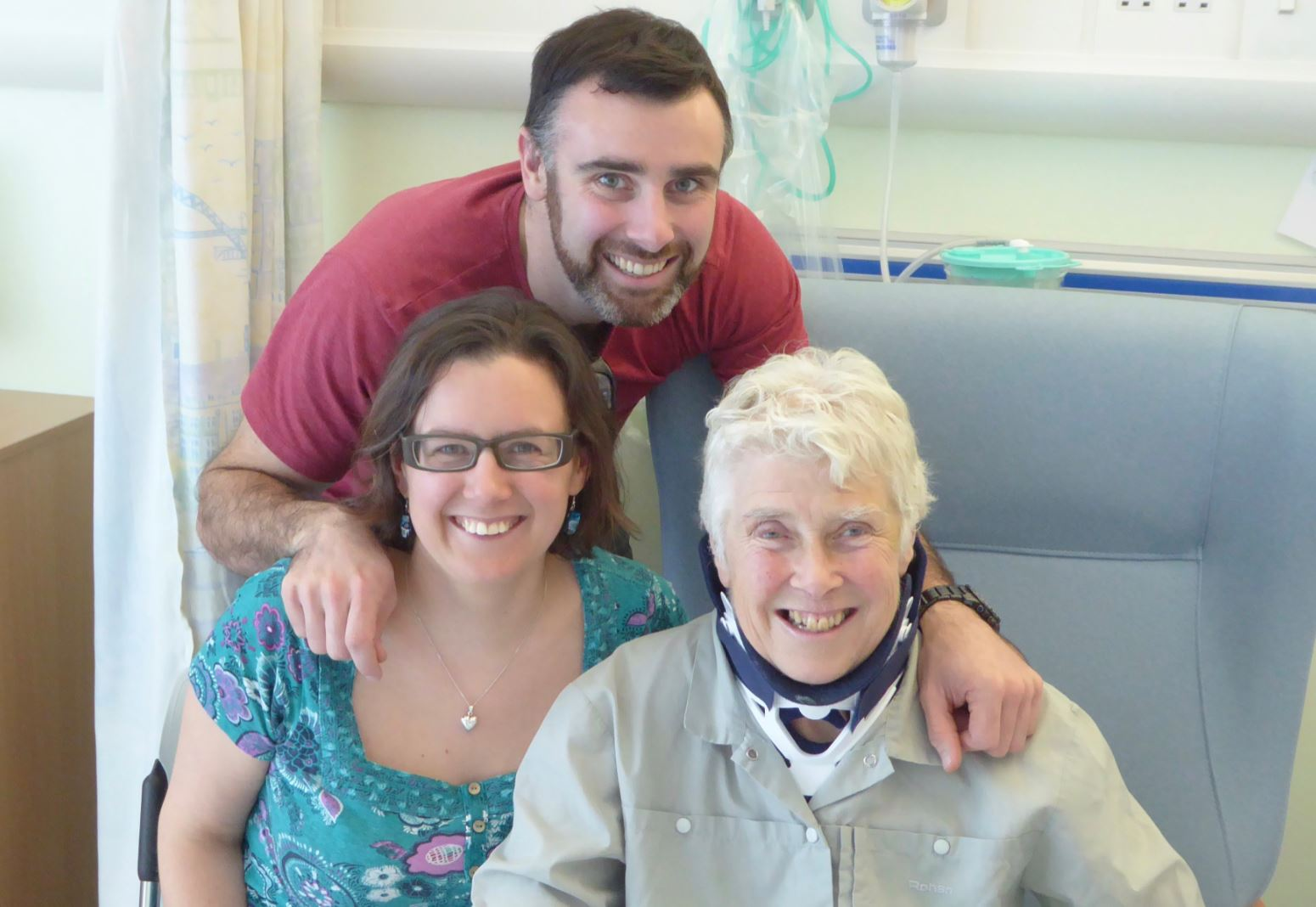 Cathy Colam with her children Nick and Jenny