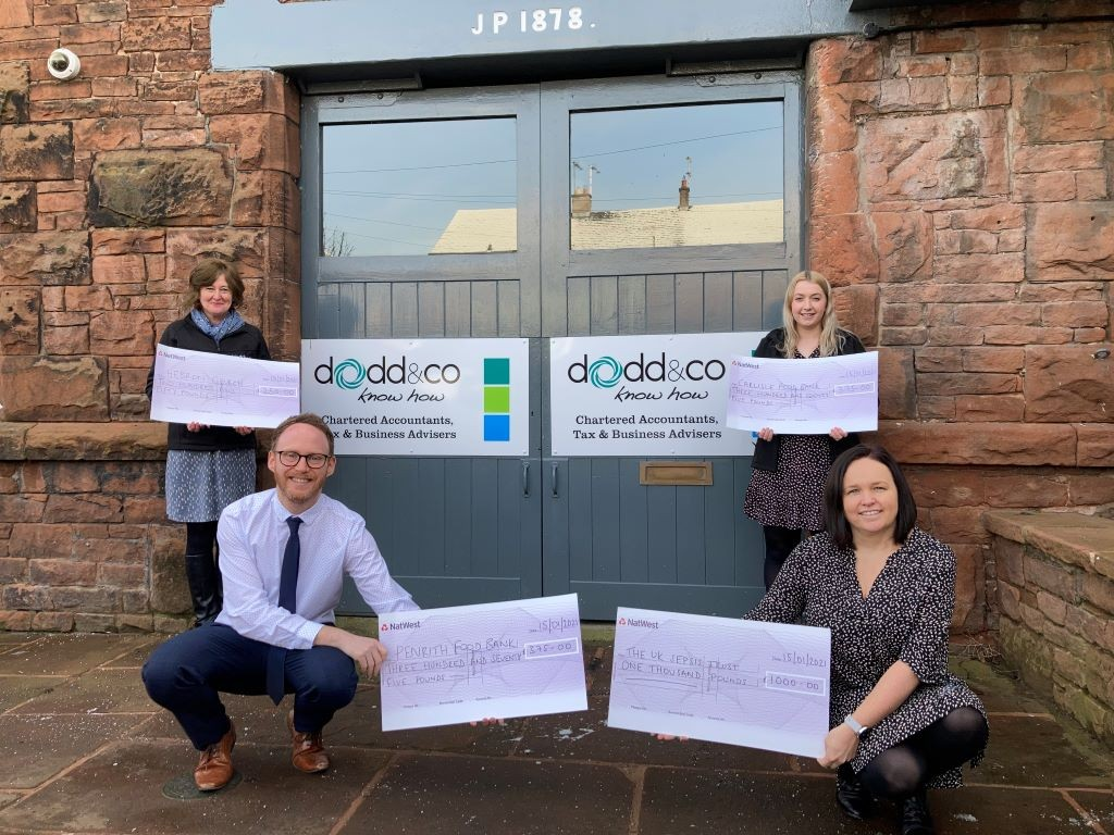 Cath Butterworth, Matthew Redhead, Caitlin Birkett and Rebecca Higgins, of Dodd & Co