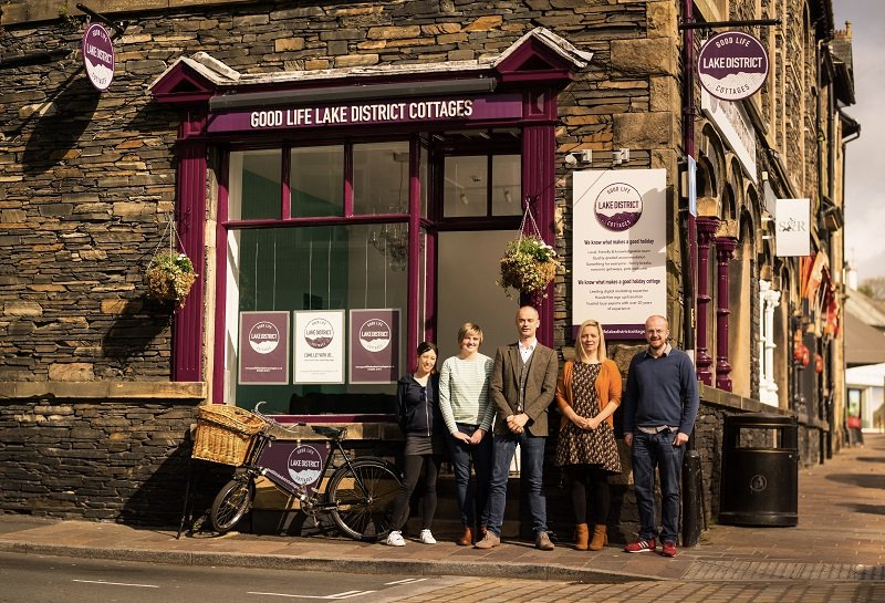 The Good Life Lake District Cottages team at their new office
