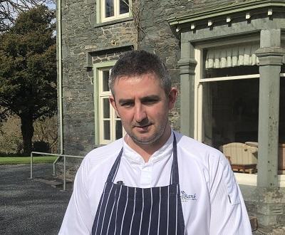 New head chef Darren Comish at the Hazel Bank in Borrowdale