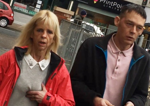 Dawn King and Thomas Meher after leaving Carlisle Crown Court