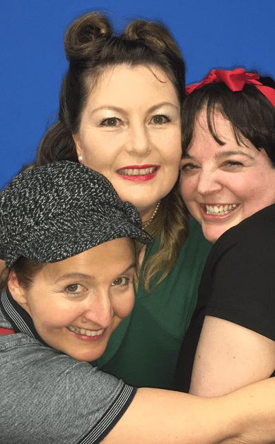L-R: Ruth Hellen (Di), Anne Bowmer (Viv) and Becky Wilson (Rose).