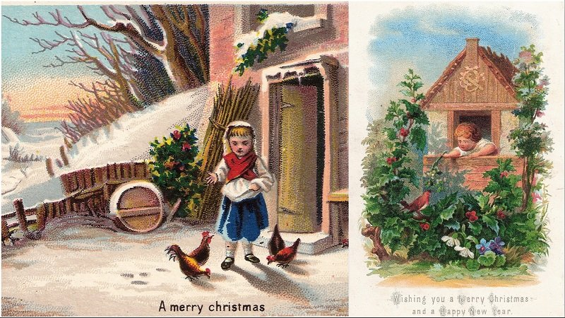 Early Christmas cards from the exhibition
