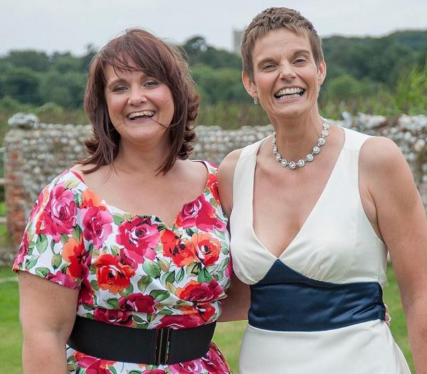 Elaine and best friend Jo wedding photo 2012