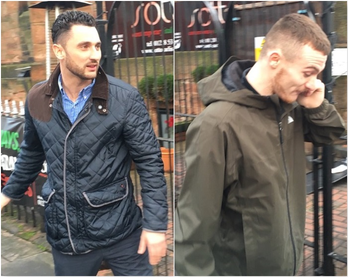 L-R: Elijah Boswell and Gary McDonald outside Carlisle Crown Court