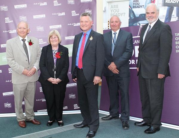 Copeland Council's executive committee: Coun Michael McVeigh, Coun Gwyneth Everett, Mayor Mike Starkie, Coun David Moore, Coun Steve Morgan.