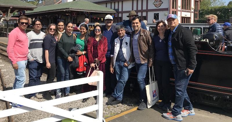 ExploreGB Indian Travel Agents enjoy a trip on La'al Ratty. Photo RER