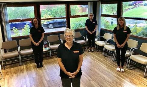 Based in Barrow L-R: Fiona Ryan – (Nurse), Mary Armes - (Front) (HCA/Admin role), Helen Musker – (Back) (Senior Health Advisor/Nurse), Janice Young - (HCA/Admin role)