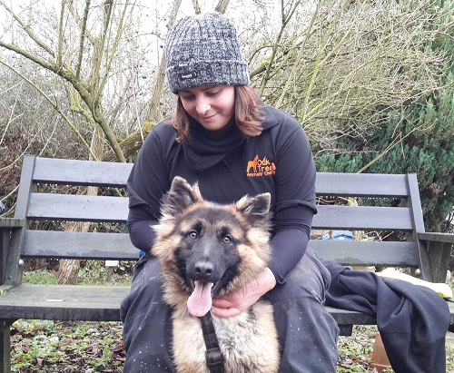 Gina Antonacci, one of the Oak tree small animal caseworkers and Roo