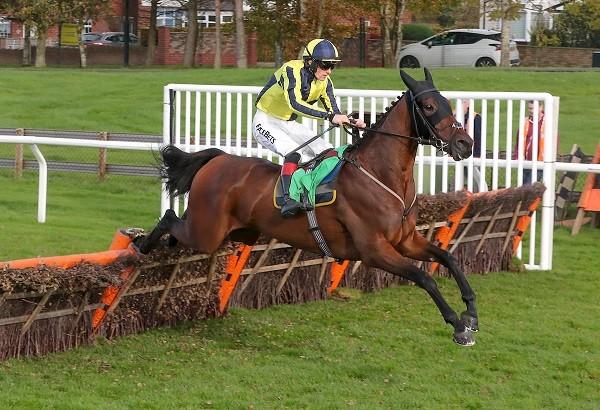 Good Boy Bobby and Sam Twiston-Davies win at Carlisle in October 2018 (Grossick Racing Photography)