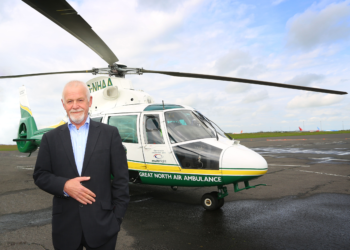 Founder of Great North Air Ambulance Service, Grahame Pickering MBE