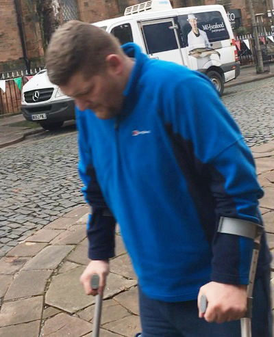 Grant Stewart pictured outside Carlisle Crown Court before a previous hearing