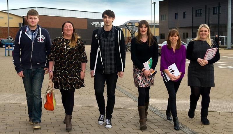 Degree programme students Nadine Farley, Rachael Tomlinson and Michael Hibbert.
