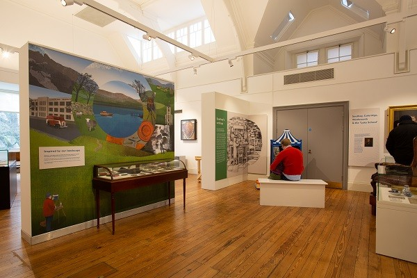 A view of gallery 2, showing the intro wall and the story of Southey and the Three Bears