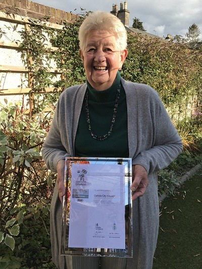 Cllr Elizabeth Mallinson, Portfolio holder for Health and Wellbeing with the City Council's Silver award