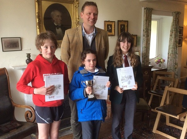 Christopher with last year's prize winners
