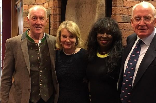 L-R: Jim Fotheringham, Trish Scott, Marcia Reid Fotheringham and Doug Scott