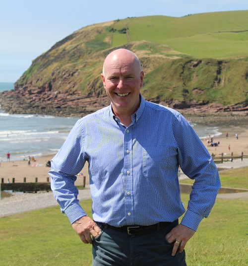 Eric Barker, Copeland Council's Coastal Programme Officer, pictured at St Bees