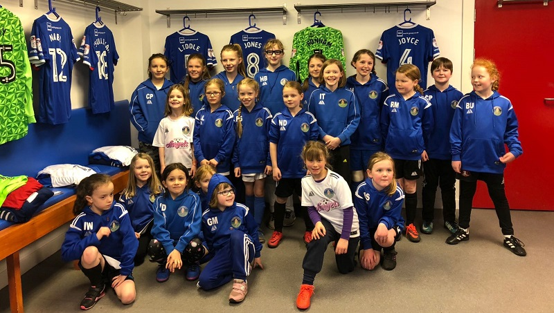 Penrith Angels in the CUFC home dressing room