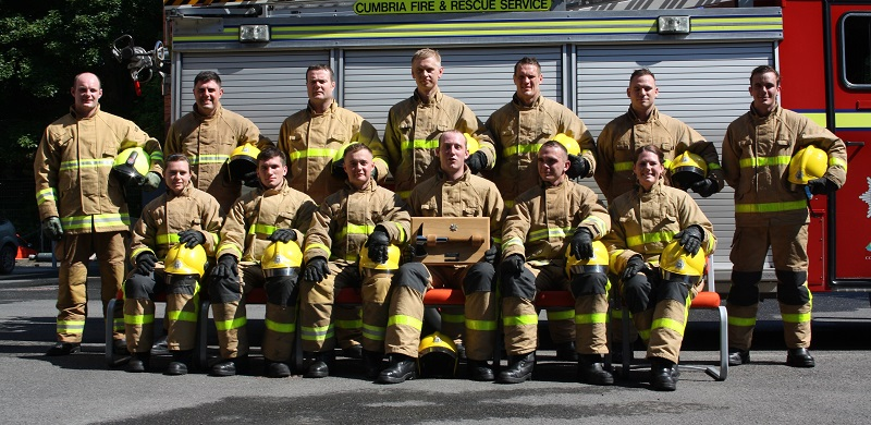 Cumbria's new firefighter recruits at their passing out parade.
