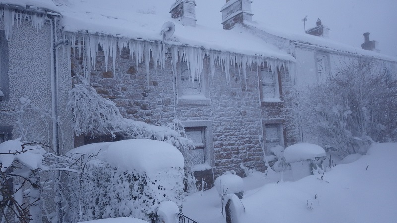 Icicles, Melmerby, March 2018 (photo Mark Sykes)